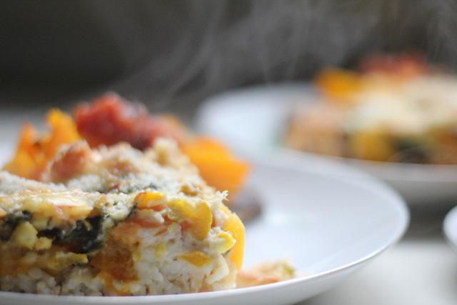 Brown rice vegie bake