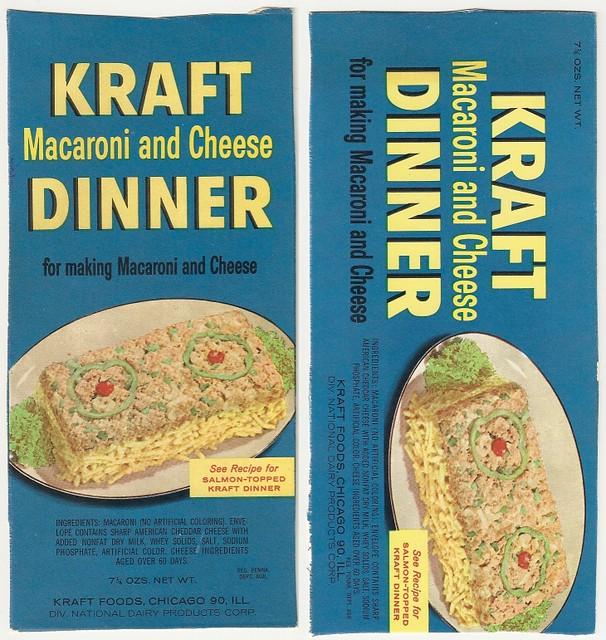1950s? Kraft Macaroni and Cheese Dinner box panels   Flickr - Photo ...