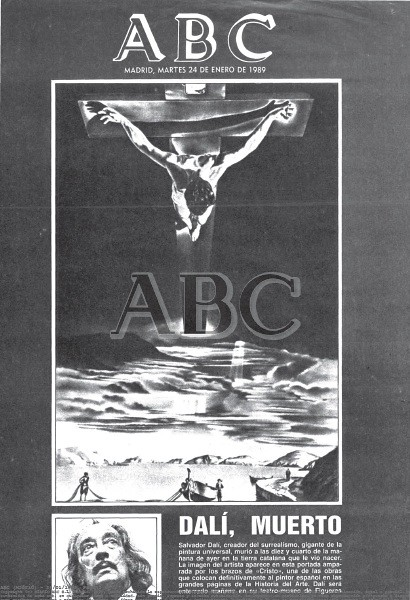 ABC Fallecimiento de Dali