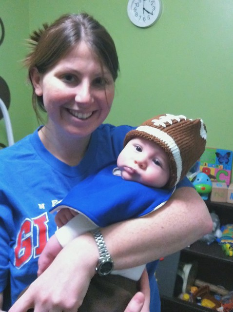 mom and isaac superbowl