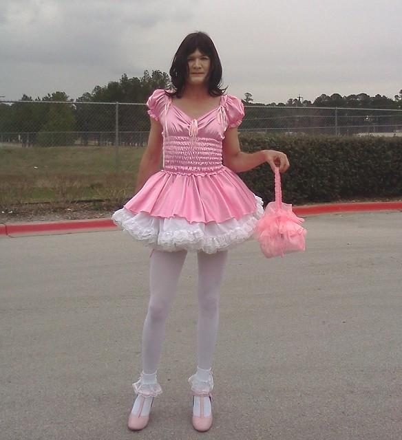 White Petticoat Pink Dress