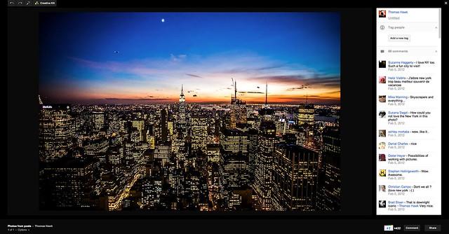 Google+ Lightbox View