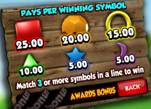 free Bubble Bonanza slot game symbols