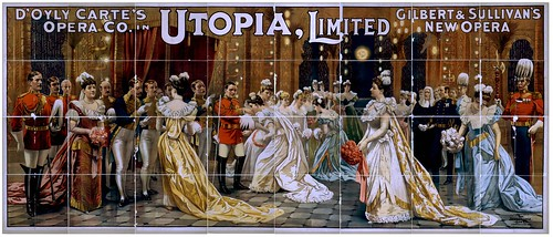 017-D'Oyly Carte's Opera Co. in Utopia, limited Gilbert & Sullivan's new opera-1894.