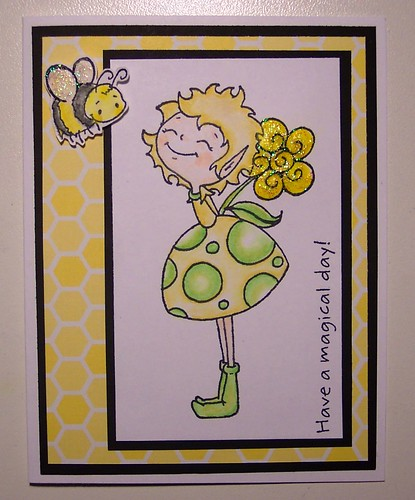 Fairy and Bee Card