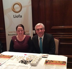Líofa Officer and Paul Clark at Ulster Scots Conference