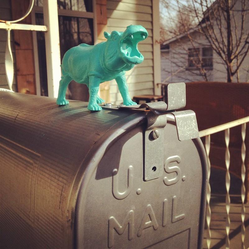 Hippo Mailbox Hood Ornament