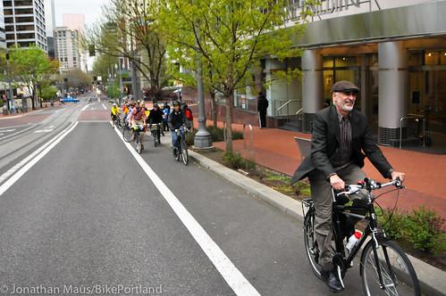 Bike Advisory Committee rides downtown-11