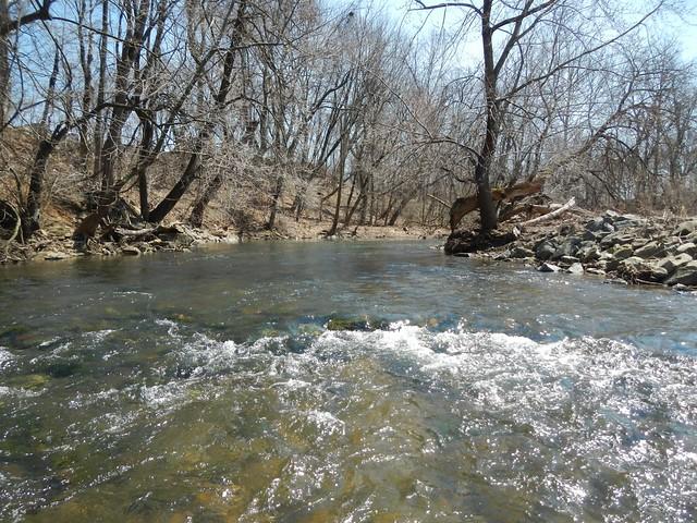 Fly Fishing Saucon Creek 04-10-2014