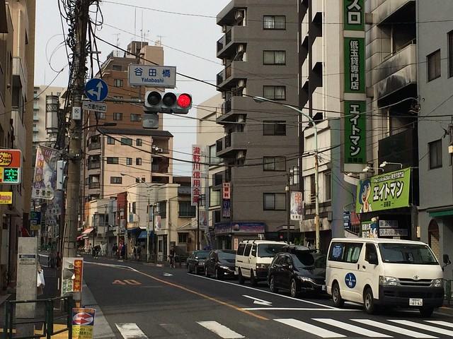 iPhone5sで撮影 谷田川(藍染川)の暗渠を歩く 2014年4月13日