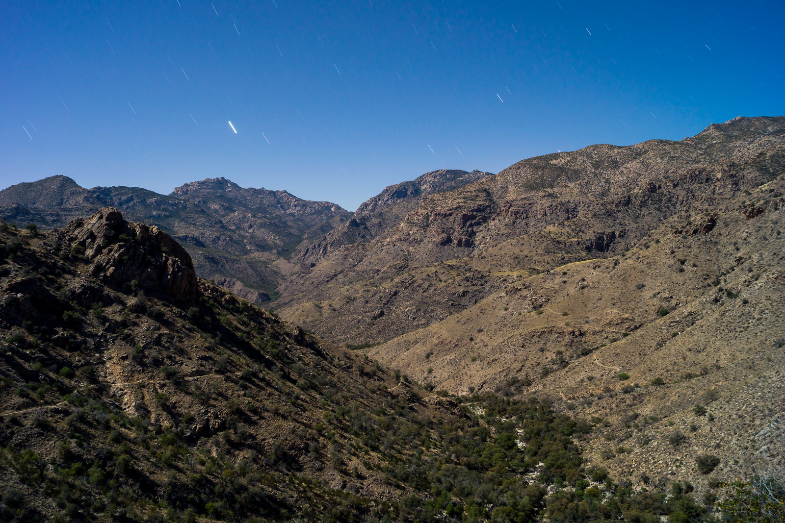 1404 Night Across the Santa Catalina Mountains