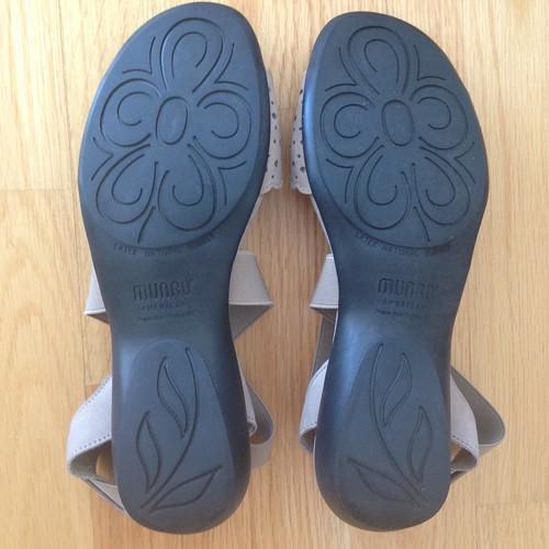 American Munro Lacy Sandals, Stone nubuck, 7W