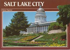 postcard of State Capitol, Salt Lake City, Utah USA