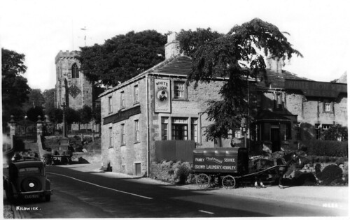 Kildwick Corner and White Lion Hotel, Keighley, Yorkshire