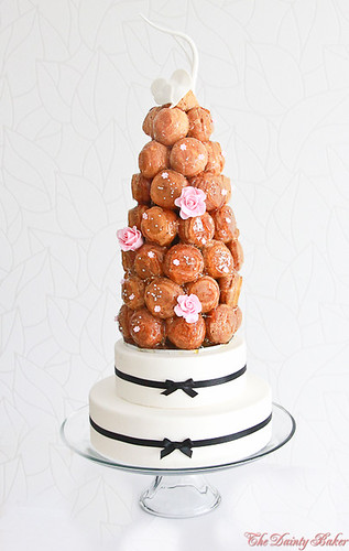 Croquembouche wedding cake-8