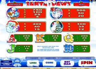 Santa Paws Slots Payout