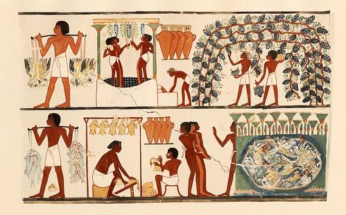 Grabado egipcio sobre el vino - Imagen cortesía de Odisea2008