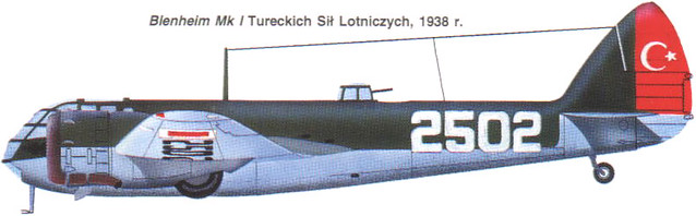 Bristol 142M Blenheim Turkey 1938