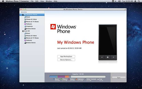 Windows Phone 7 Connector for Mac_01