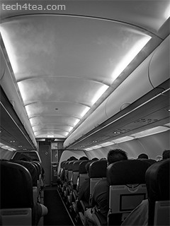 The Airbus 320-200 from Singapore to Kota Kinabalu in Sabah was fully packed.