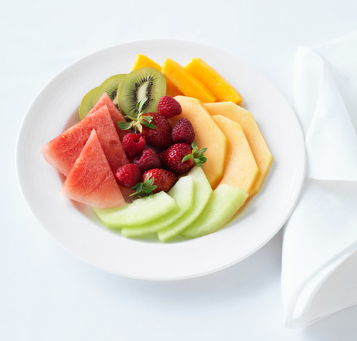 Healthy food options onboard