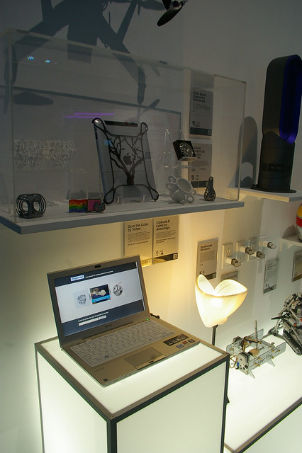 The Wired Pop up Store in Times Square featuring 3D Printed Products from the Shapeways Community
