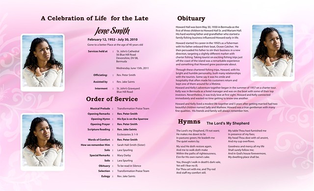 Free Funeral PROGRAMS| DOWNLOAD FUNERAL TEMPLATES | Flickr - Photo ...