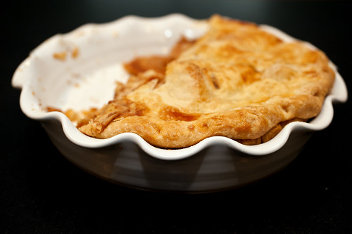 half-eaten pie. got carried away, so this is your picture. you're welcome.