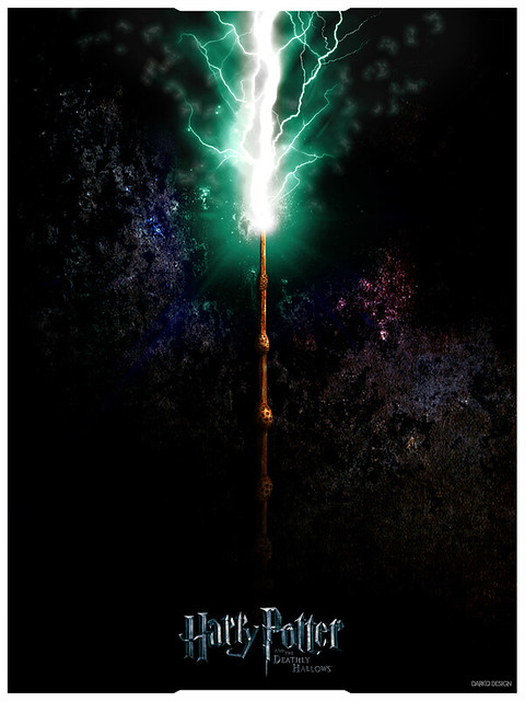 Harry potter deathly hallows trilogy poster elder wand for The deathly hallows wand