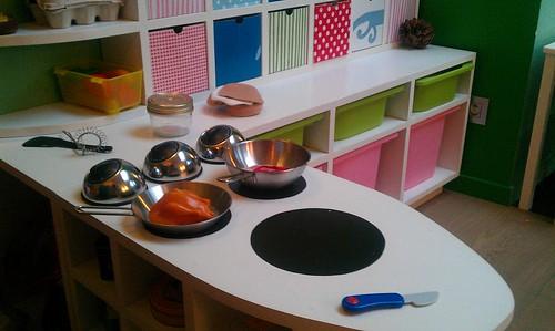 Keuken van een doe-het-zelf-papa