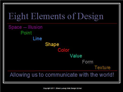 Elements Of Design Value : Eight elements of design space point line shape color