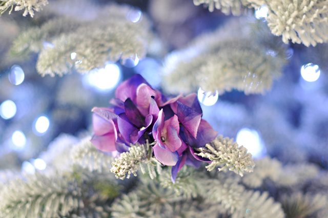 Flower Hair Clips DIY_Flower Christmas Tree Ornaments-13