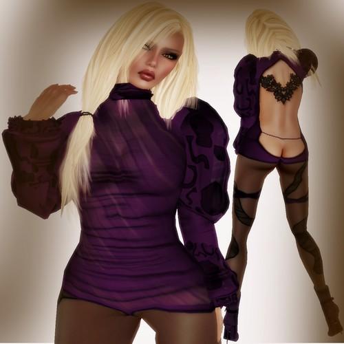 A&A Fashion Balafe Outfit violet