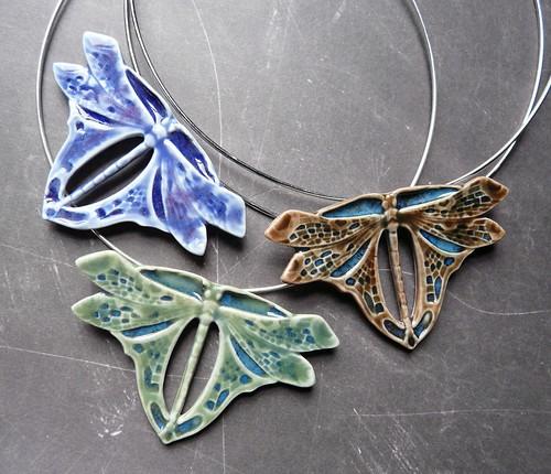 Porcelain dragonflies