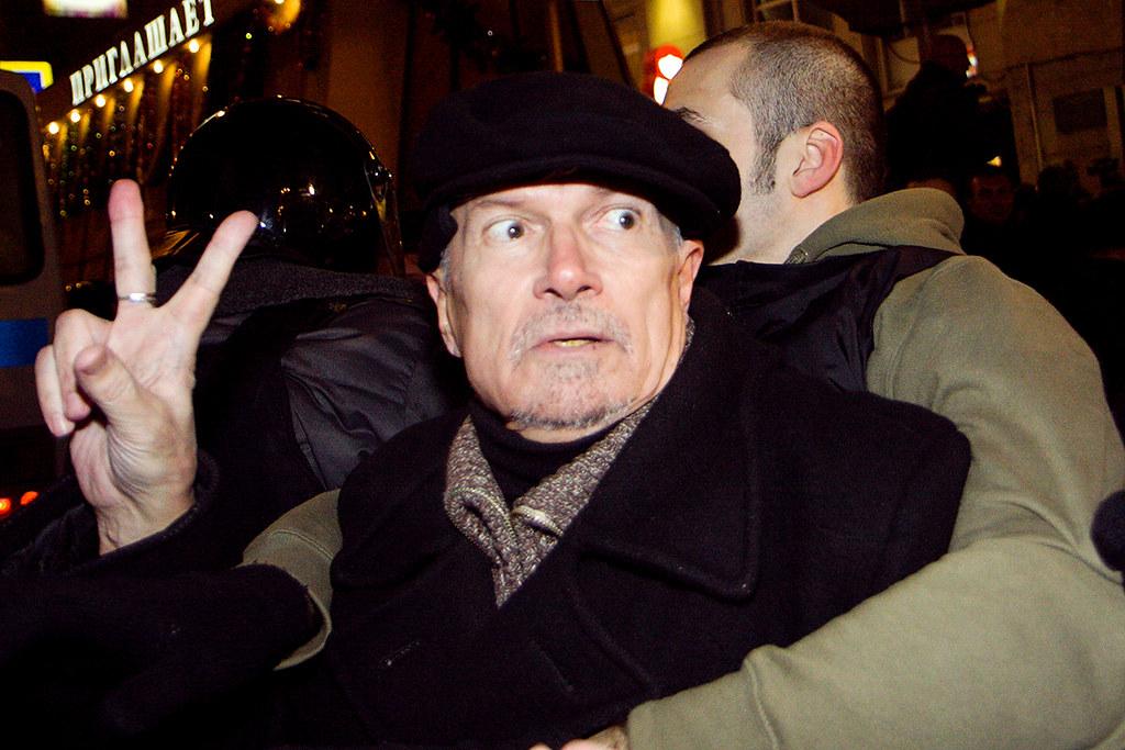 Задержание Эдуарда Лимонова на Триумфальной площади 6 декабря 2011