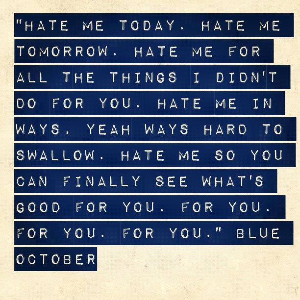 Blue october hate me voicemail