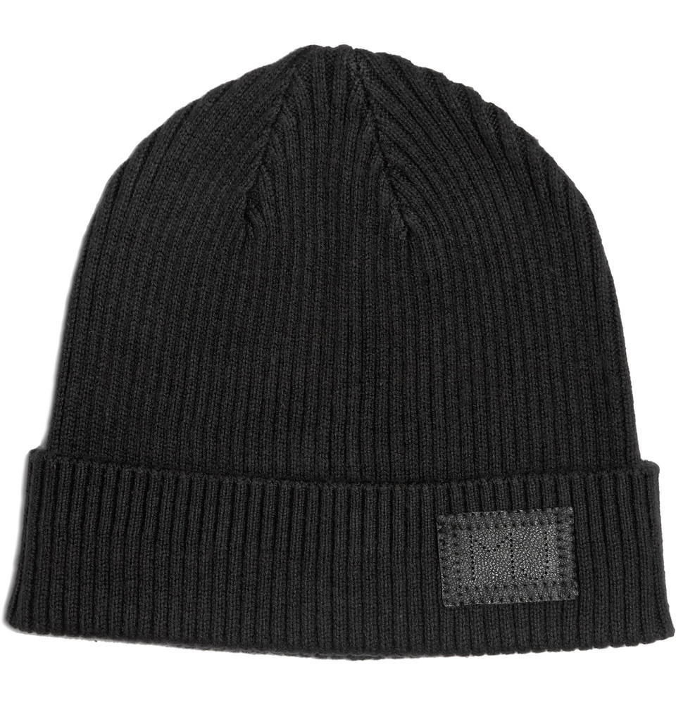 MARC BY MARC JACOBS  RIBBED WOOL-BLEND BEANIE HAT