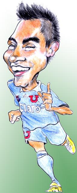 Eduardo Vargas caricatura