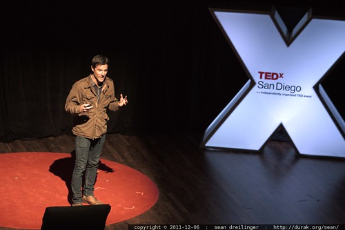 Jason Russell of Invisible Children speaks at TEDxSanDiego in December 2011  – _MG_4045