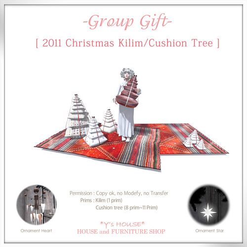 Group Gift / *Y's HOUSE* [2011 Christmas Kilim / Cushion tree ]