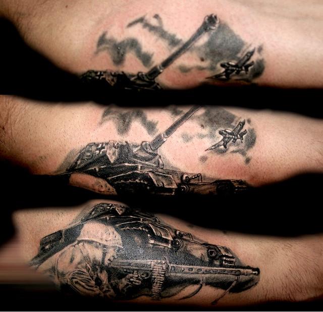 tatuaje panzer estilo realista flickr photo sharing. Black Bedroom Furniture Sets. Home Design Ideas