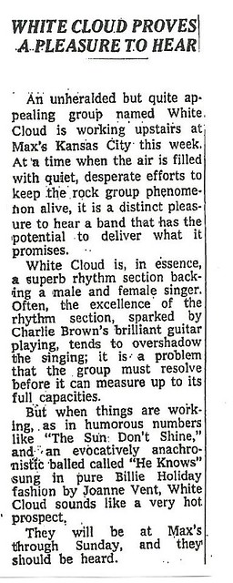 06-04-72 NYT Review - White Cloud @ Max's Kansas City