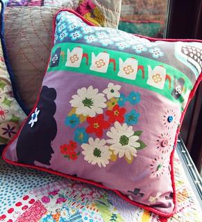 Ruby Star Shining Pillow