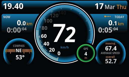 ulysse speedometer for google phones interface