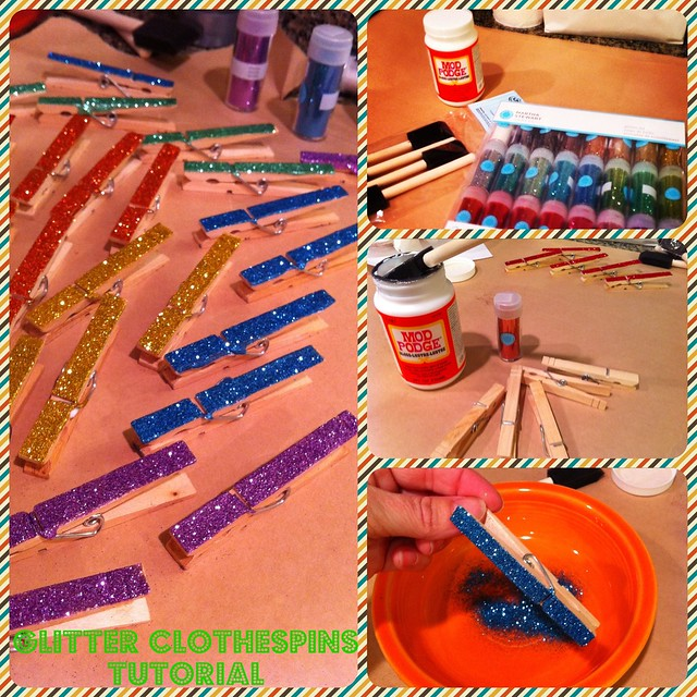 Glitter Clothespins Tutorial