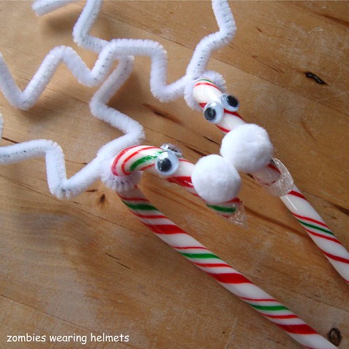 candy cane reindeer albino twins