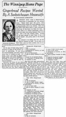 Three Gingerbread RecipesWinnipeg Evening Tribune -- May 2, 1944