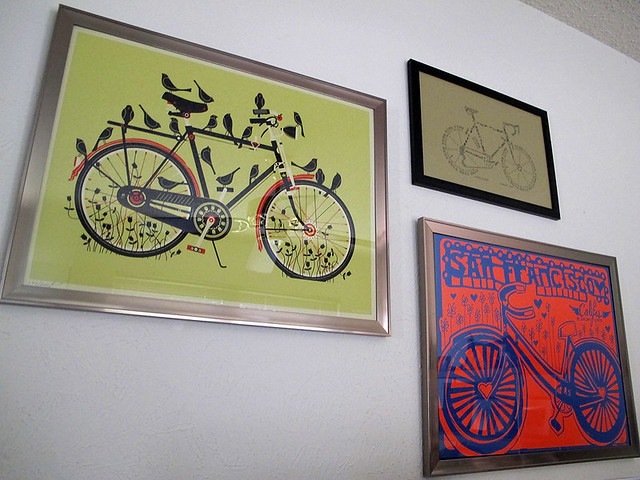 Bike Gallery Office Wall