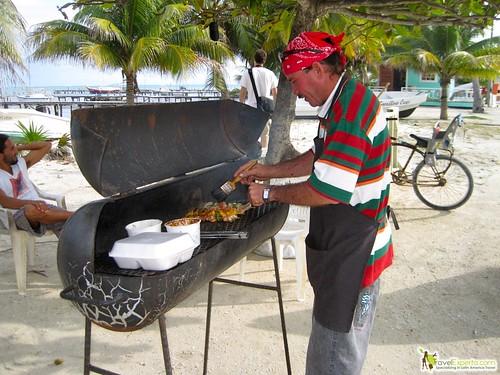 grilling fresh seafood caye caulker belize