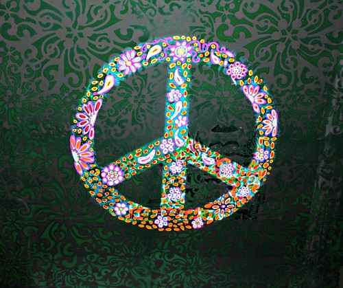 Peace Sign Table for Natalie in West Virginia by Rick Cheadle Art and Designs